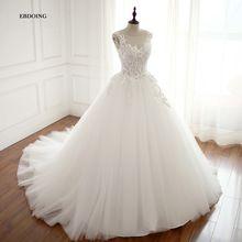 Real Photo Robe De Mariage Wedding Dress 2018 Ball Gown Boat Neck Custom  Made Vestidos De 42dc008318e2