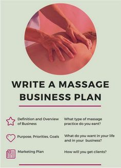 How to write a massage therapy business plan