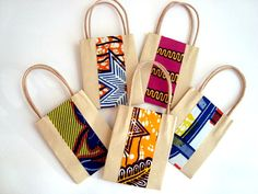Wedding favour party bag small gift bag African wax print x