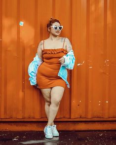 Women's Curvy Corduroy Pants Source by digitaldalji outfits plus size Fashion 90s, Fat Girl Fashion, Chubby Fashion, Fashion Outfits, Thick Girls Outfits, Curvy Girl Outfits, Plus Size Outfits, Mode Plus, Look Girl