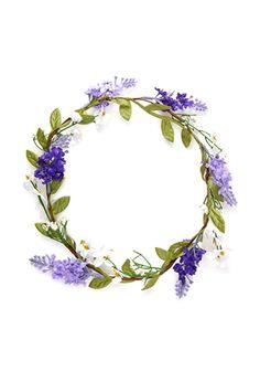 Jasmine & Lavender Flower Crown from Forever Lavender Wreath, Lavender Flowers, Fake Flowers, Flowers In Hair, Lavander, Floral Garland, Flower Garlands, Wreath Watercolor, Watercolor Flowers