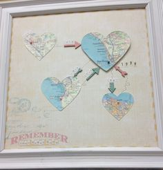 Map where you have lived! Super cute :) (Found inside Paper Tales Scrapbook boutique in San Diego - http://papertales.typepad.com/ )