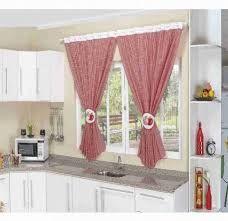 cortina para cozinha americana vermelha