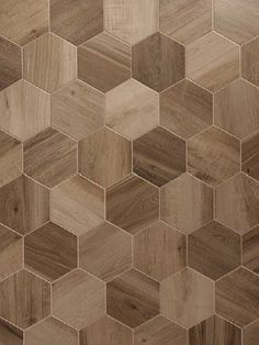 Rubiera Urban Wood Nut 10x11 Hexagon. Also available in 6x36 and 3x14 planks.