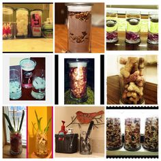 Save your jewelry in candles Jars. Use them to make a Gift out of them