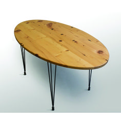 The Percy Kitchen Table is hand-crafted from solid Reclaimed White Pine that has been carefully treated with clear epoxy resin to fill in all voids that have been created by construction elements like nails and screws as well as more natural wear like knots and wormholes. This makes each piece