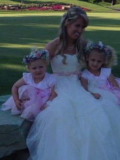 Flower Girl Halos by Cindy Platt. Brackett & Company floral designs