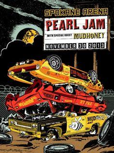 2013 PEARL JAM SPOKANE 11/30 POSTER