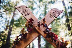 Nordic camping wedding as seen on @offbeatbride