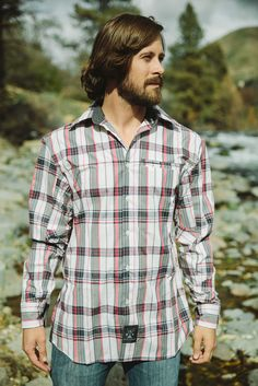 Dolly Varden Outdoor Clothing Red Plaid Button-Up - Men's Regular Dolly Varden, Casual Wear, Men Casual, Outdoor Outfit, Red Plaid, Classic Looks, Button Up, Dusk