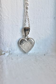 Vintage Sterling Silver Heart $38.00