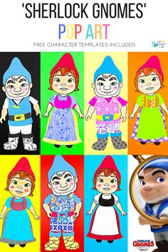 Sherlock Gnomes Character Pop Art for Kids - Arty Crafty Kids