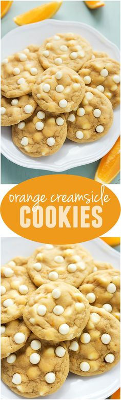 These cookies taste just like an orange creamsicle and are perfect for summer!
