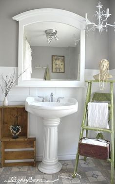 Fun bathroom renovation.