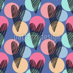 Heart Confetti Seamless Pattern by Maria ion at patterndesigns.com Vector Pattern, Pattern Design, Surface Design, Confetti, Your Design, Valentines, Patterns, Heart, Valentine's Day Diy