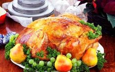 Turkey with pears  # food recipes New Year's Party
