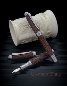 Grayson Tighe Snakewood Victorian Writing Instruments Writing Pens, Letter Writing, Stylo Art, Luxury Pens, Pen Turning, Fountain Pen Ink, Pen And Paper, Writing Instruments, Victorian