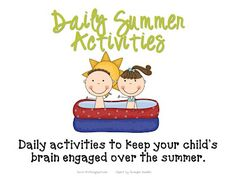 A great learning activity for each day of the summer!