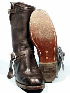 Leather Soles Red Wing Boots, Brown Leather Ankle Boots, Biker Boots, Motorcycle Boots, Sock Shoes, Shoe Boots, Men's Boots, Buckaroo Boots, Engineer Boots