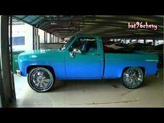 "PEARL WHITE Short Bed Chevy C10 Silverado Truck on 28"" Forgiatos"