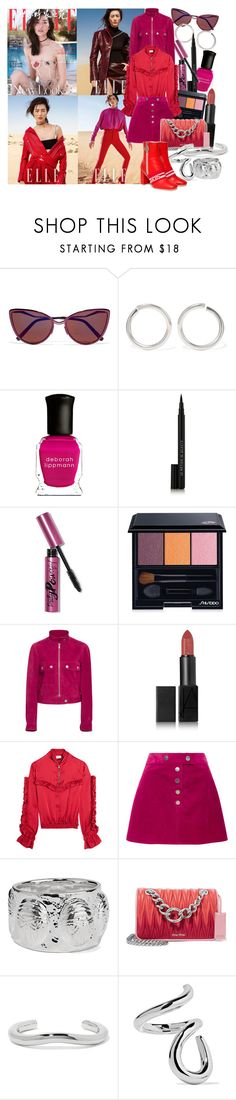 """""""On the difficult days, when the world's on your shoulders, remember that diamonds are made under the weight of mountains"""" by brownish ❤ liked on Polyvore featuring Cutler and Gross, Sophie Buhai, Deborah Lippmann, Le Métier de Beauté, Bobbi Brown Cosmetics, Shiseido, Courrèges, NARS Cosmetics, Magda Butrym and Aurélie Bidermann"""