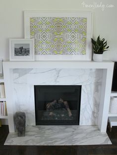 Riad Tile - Natural White - Zellige Nice fireplace by Chris Cipriano. They used our Natural White Zellige tile on the fireplace cladding. Marble Fireplace Surround, Fireplace Logs, Simple Fireplace, Marble Fireplaces, Fireplace Remodel, Living Room With Fireplace, Fireplace Surrounds, Fireplace Design, Fireplace Ideas