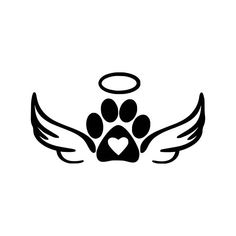 Digi-tizers Angel Paws (SVG Studio V3 JPG)   We also make shirts, vinyl decals, wall art, koozies and more! If you would like any of our designs on a different item than listed please send me a message and I will see if we can accommodate you. *Note.. if you ordered a digital
