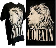 Kurt Cobain Vintage Faded T shirt Concert Nirvana Band grunge nevermind Nirvana Band, Nirvana Shirt, Ski Bunnies, Vintage Burlesque, Pink Beige, Collar Styles, Faux Fur Jacket, Kurt Cobain, Types Of Sleeves