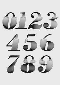 yorokobu lettering type typography numbers creative styles tipografia numeros