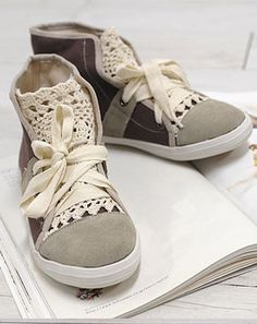 Hi Top Sneakers..soft and dressy!