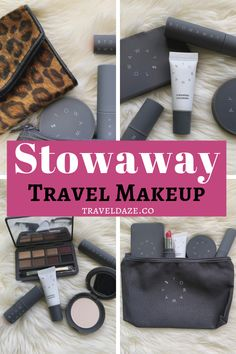 Looking for travel-friendly makeup products to pack for your next trip? Here's my honest review of Stowaway Cosmetics and which products I recommend. #travelbeauty #travelmakeup Makeup Items, Makeup Products, Makeup Routine, Makeup Kit, Travel Beauty Routine, Smokey Eye Palette, Travel Size Makeup, Cream Highlighter, Travel Hairstyles