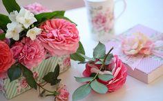 Розы, коробка, c elena di guardo, подарок