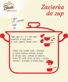 Zacierka do zup Cooking Tips, Cooking Recipes, Snack Recipes, Healthy Recipes, Polish Recipes, Confectionery, Soups And Stews, Pasta Dishes, Holiday Recipes