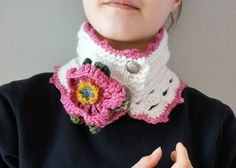 Wild Rose Scarf rose scarf READY to SHIP by ValerieBaberDesigns