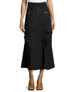 5c2021b38e Even better in BLACK! T8PPX XCVI Ruched-Panel Maxi Skirt