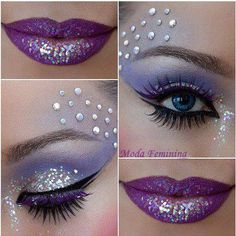Perfectly purple festival make up