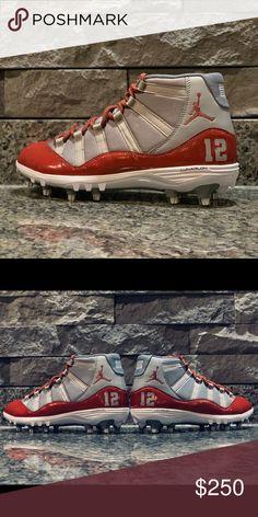 6b3c3ec06b2 Custom Jordan 11 Football Cleats Custom Football cleats. I can change the  colors if wanted