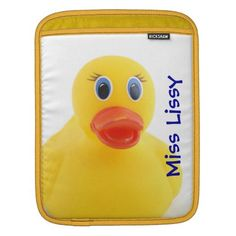 Yellow Rubber Ducks Sleeves For iPads - $54.95 - Yellow Rubber Ducks Sleeves For iPads - #rubberduck #toy #sleeves #yellow - by RGebbiePhoto @ zazzle - Whether you had one as a child, or have one as an adult, these plastic yellow rubber duckies are sure to bring a smile to any face. Bathtime is always funtime with these squeaky toys!