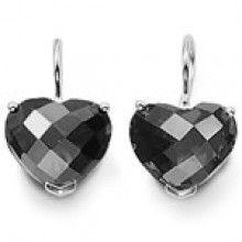 thomas sabo black heart diamond earrings