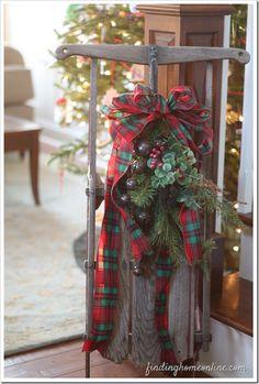 Trineo de Navidad de la vendimia