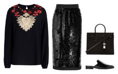 """""""Untitled #4082"""" by michelanna ❤ liked on Polyvore featuring MANGO, Yves Saint Laurent and Dolce&Gabbana"""