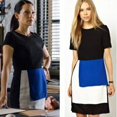 Elementary season 2, episode 13: Joan Watson's (Lucy Liu) Peter Jensen Panelled color block Dress available at asos