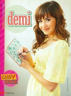 "DEMI LOVATO - CAMP ROCK - 2008 - J-14 magazine PINUP - MINI POSTER (8""x11"")"