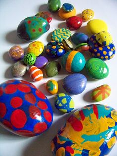 Painting rocks to look like eggs (maybe tie in rolling away the stone at the resurrection)