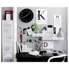 BONDIS Wall clock, black - IKEA Wall Clock Ikea, Ikea Canada, Polypropylene Plastic, Learning Spaces, Relax, Frame, Tic Tac, Black, Powder Coating