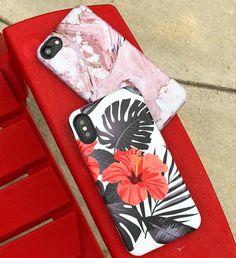 Waiting for sunshine Rose Marble & Phantom Hibiscus Case for iPhone X, iPhone 8 Plus / 7 Plus & iPhone 8 / 7 from Elemental Cases #rosemarble #phantomhibiscus #elementalcases #iphonex #iphone8plus #iphone8 #iphone7plus #iphone7