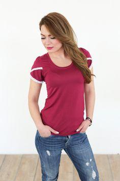 Tops - Shirt Burgundy in himbeere - ein Designerstück von Shoko bei DaWanda