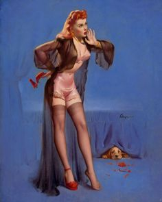 Image gallery for the vintage pinup art of Gil Elvgren (gallery 2 of Pin Up Vintage, Photo Vintage, Vintage Style, Pinup Art, Gil Elvgren, Estilo Pin Up, Pin Up Girls, Comic Art, Shoe Poster