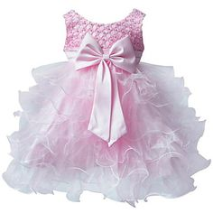 BHL Infant Girl's Pink Floral Dress Sleeveless Ball Dress Wedding Dresses Pageant Party Dresses For 0~2Y Baby Girls – USD $ 20.49