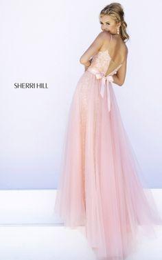 Lace Tulle Prom Dress 2015 Blush Sherri Hill 32229